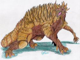 RDX002-Anguirus by hewhowalksdeath