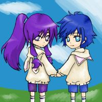 Chibi Gakupo and Kaito by HH-Anime-HH