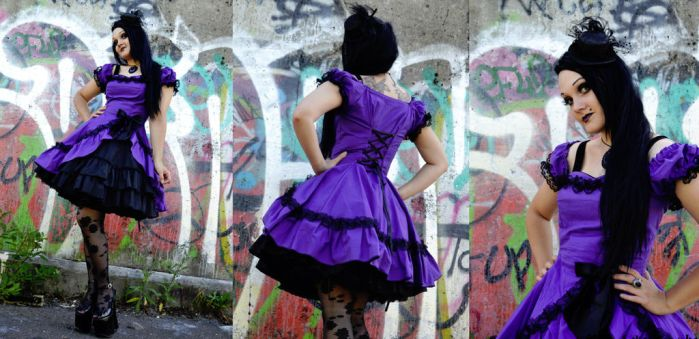 Gothic Lolita Purple Dress by Ventovir