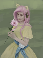 Fluttershy Portrait by Fahu