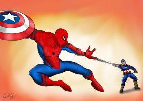 Spider man in Civil War! by WembleyAraujo