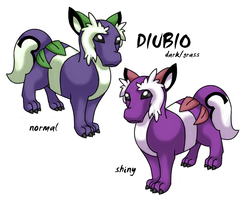 Diubio the fake pokemon by redwattlebird