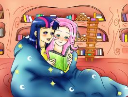 Reading together by Shiko-k