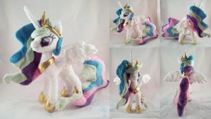 Princess Celestia Plush by dollphinwing