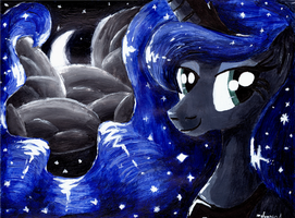 Luna and the Moon by CrestfallenCelestia
