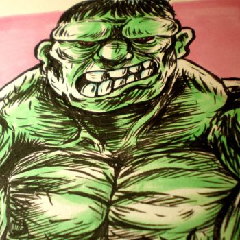 INKtober - The Hulk by Cosmic-Rocket-Man