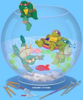 Turtles in a fishbowl by FREAKfreak