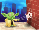 Daily 41- Yoda Throws a Baby at a Wall Headfirst by TheAlienBanana