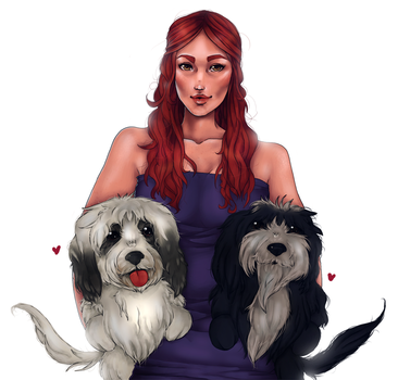 CM: Sister and puppers! by Donnis