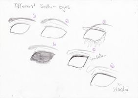 different sollux eye stles by kimmyragefire