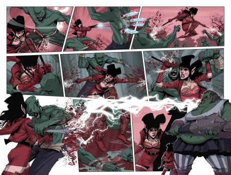 RatQueens 05 pgs 6 and 7 by johnnyrocwell