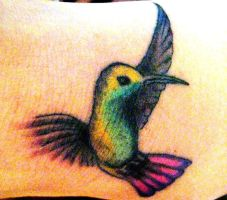 hummingbird tattoo by apetrocco