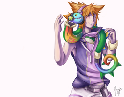 TWEWY/KH: Neku and Nekuppoi by brumal