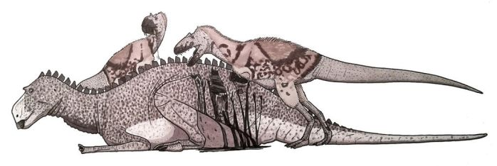 Maiasaura and Teratophoneus by ZEGH8578