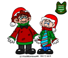 Pierre and Andre in Christmas jumpers by PierreAndAndre