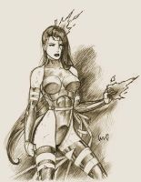 Psylocke sketch by snoozzzzzz