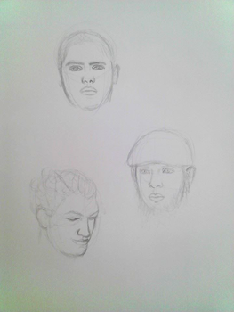 Five Minute Face Sketches by MyWorld1
