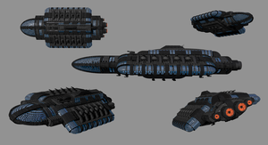 Juggernaut-Class Battlecruiser by madfox43