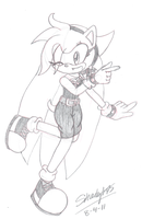 GIFT.:Victoria the Hedgehog:. by Shady-Sketches95