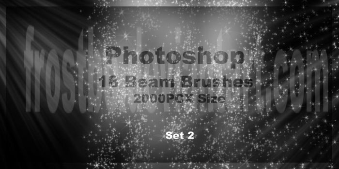 Photoshop Beam set 2 Brushes by FrostBo