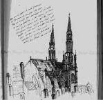 Sketch of cathedral by VikingWidunder