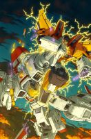 Jetfire vs Sunstorm by Pinkuh