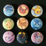 Eeveelution buttons by Skoryx