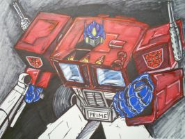 Optimus Prime WIP by papabear7