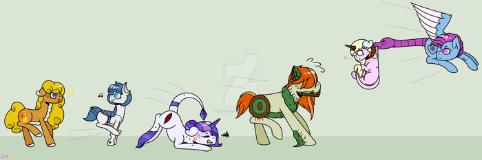 MLP OC FANART: The chase is on! by SnowFl8keAnge1