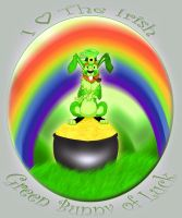 The Irish Green Bunny of Luck by Pumidlo