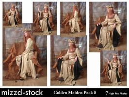 Golden Maiden Pack 8 by mizzd-stock