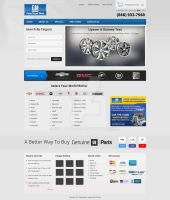 GM Parts Home Page Design by Simanto-90