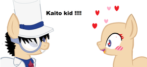 Kaito Kid And Fan Girl BASE by missmoumoute