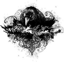 Wicked Crow Illustration by chadlonius