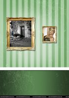 green home wall paper by razangraphics