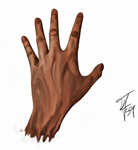 Painted Hand by Merctw