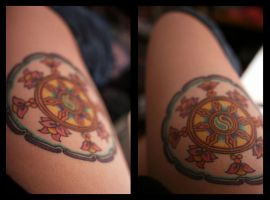 Dharmachakra Tattoo by StolenSecrets