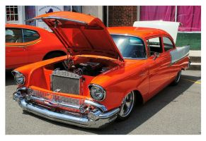 Orange And White 57' Chevy by TheMan268