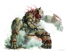Rage Golem by mr-nick