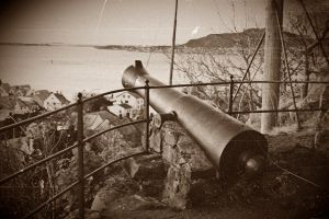 The old canon in Aalesund by Renama
