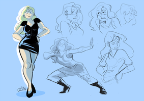 Lizzy - character page by CurvedCat