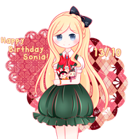 Happy Birthday Sonia! by ichigomeichan