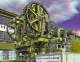 Drawing Press : ANAGLYPH 3D : by zour