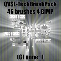 QVSL 46 Tech Brushes 4 GIMP by qbicle