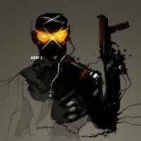 Marvel Fan Art AGENT X by benedickbana