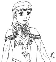 Anna (line art) by Rini2012