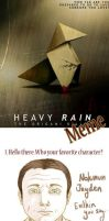 Heavy Rain Meme by FigBeater