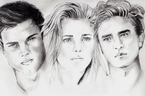 Jake, Bella, Edward by StrawberryCake01