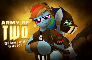 Army of Two Commission by drawponies