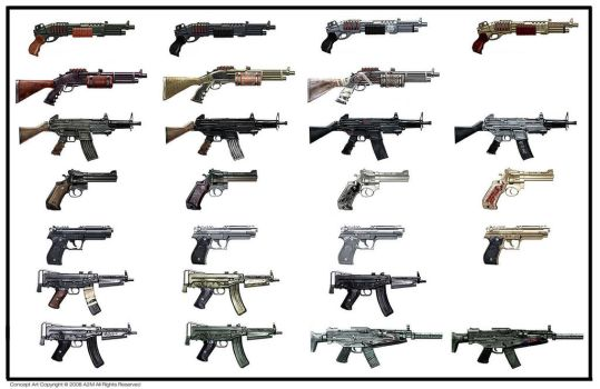 WET_Weapon_collection by Gryphart